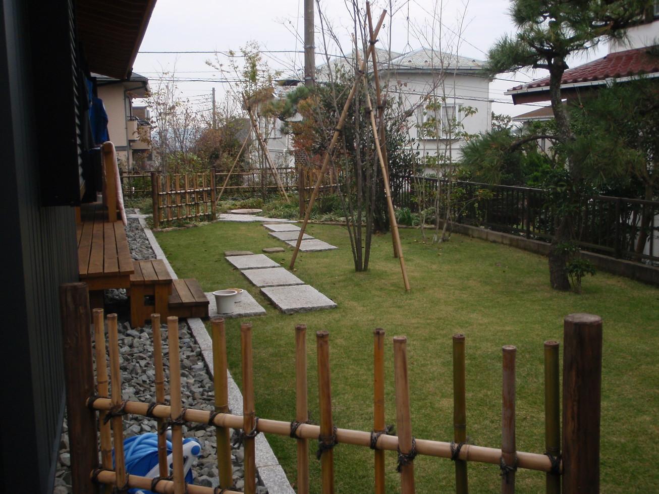 リフォーム シンプルモダンの庭