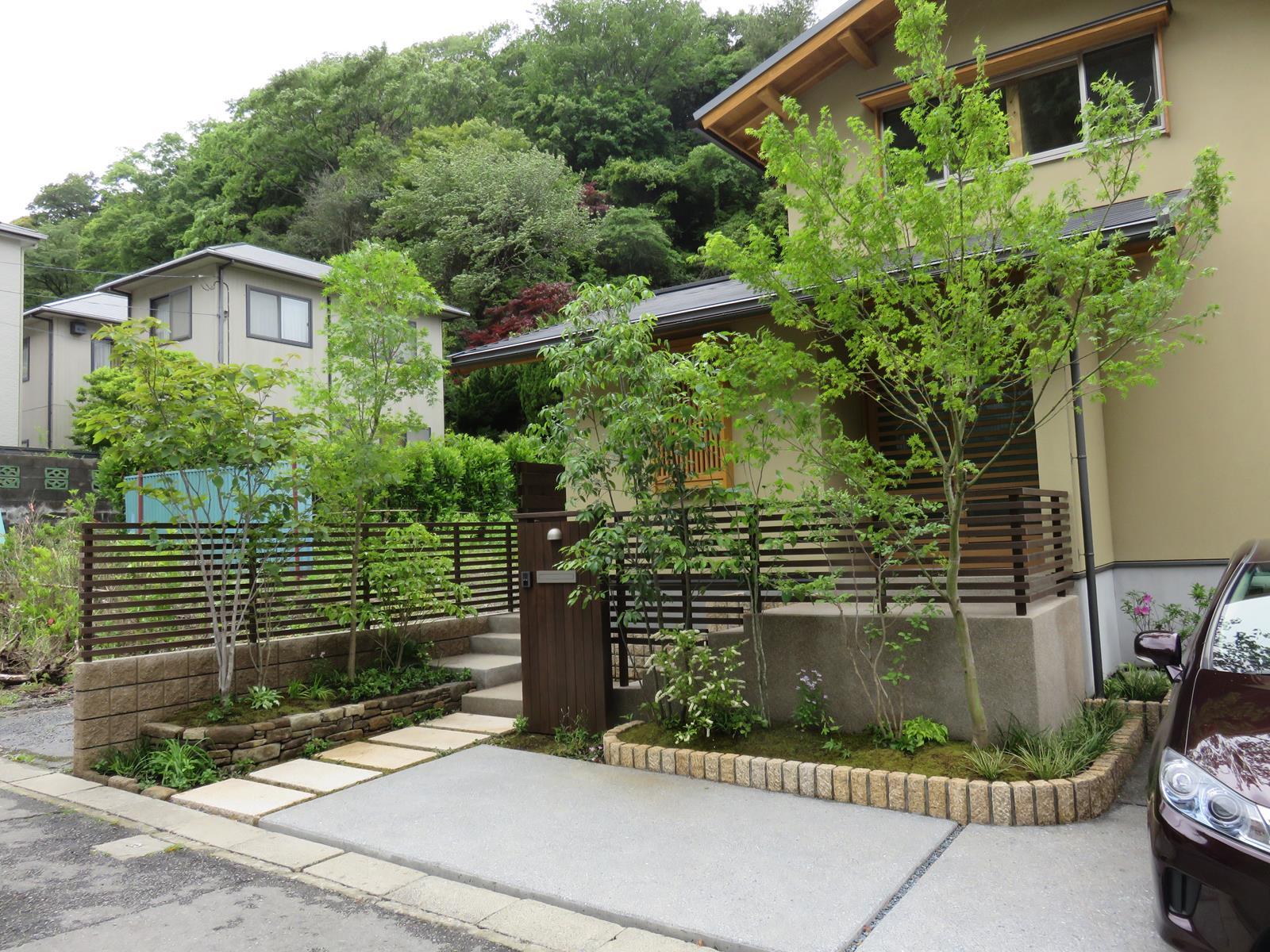 坪庭のあるお家